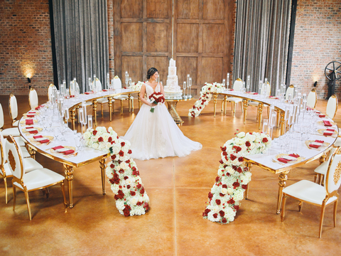 2020 Iron Manor Styled Shoot - Scene 2 Curved Tables - Montgomery, Texas